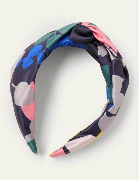 Knotted Headband - Leaf, Asphalt