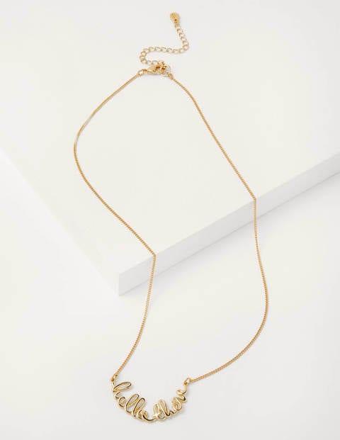 Halskette mit Gruß - Gold, Hello There