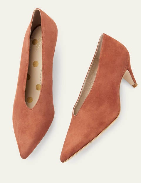 Natalie Kitten Heels - Copper Red