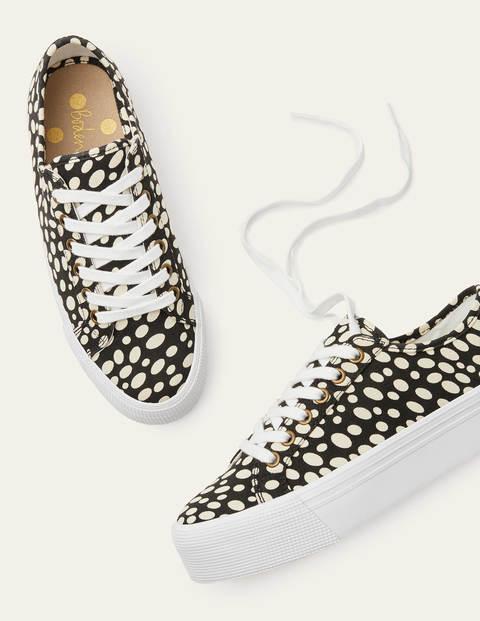 Natasha Sneakers - Black/Ivory Animal