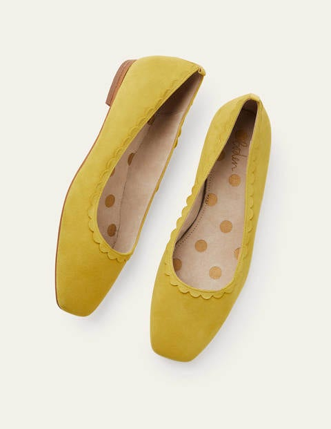 Olive Ballerinas - Chartreuse