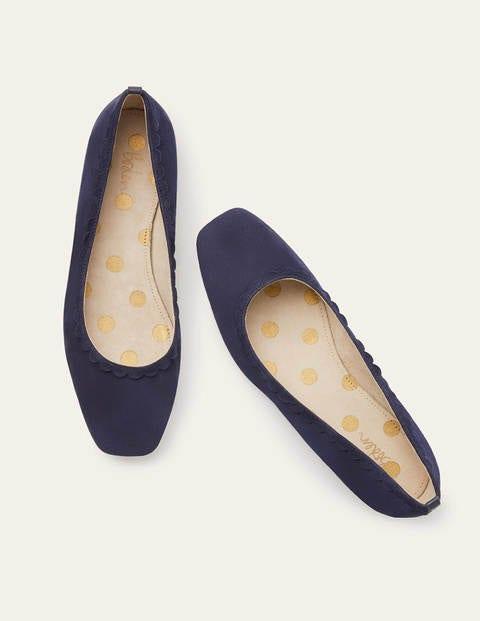 Olive Ballerinas - Navy