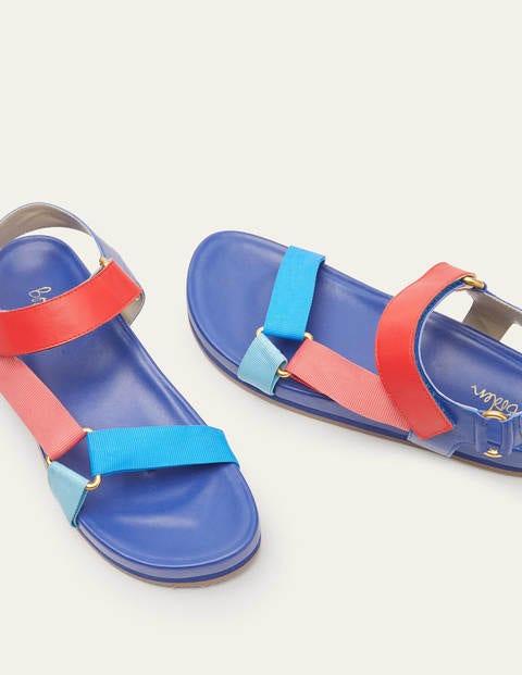 Philomina Sandals - Navy Colourblock