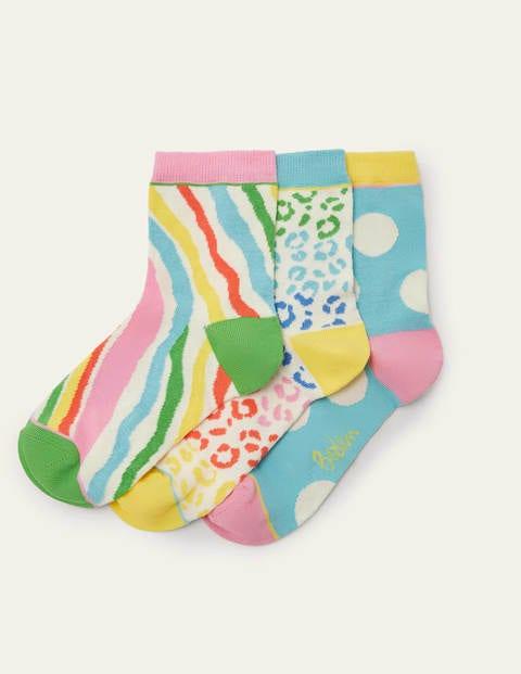3 Pack Ankle Socks - Multi