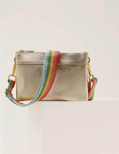Clementine Crossbody Bag - Pale Gold