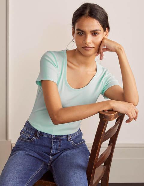 Kurzärmeliges Basic-T-Shirt - Mintgrün