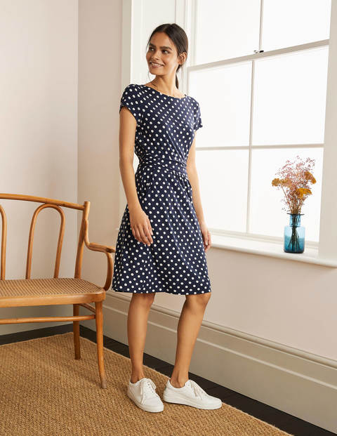 Amelie Jersey Dress - Navy, Spot