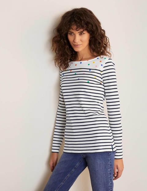 Long Sleeve Breton - Stripe/Multi Spot