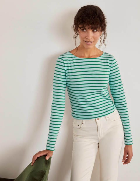 Long Sleeve Breton - Spearmint/ Green