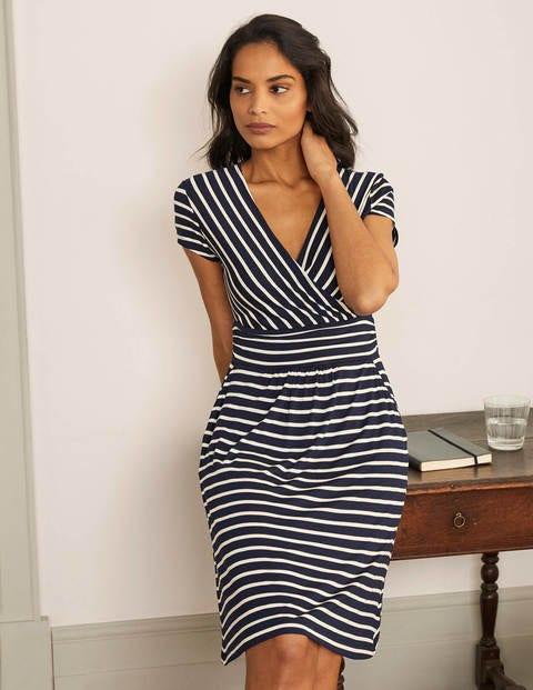 Lola Jersey Dress - Navy/Ivory