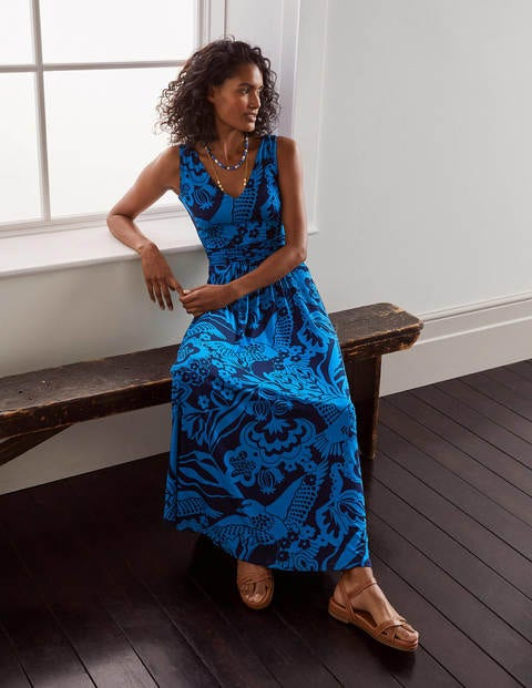 Sienna Jersey Maxi Dress - Navy, Exotic Escape
