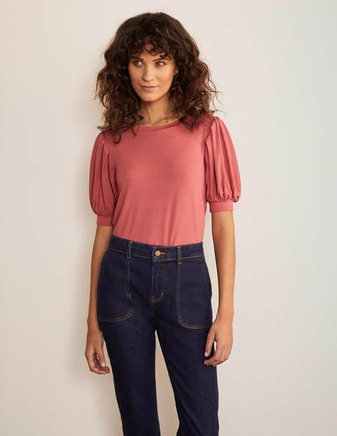 Holly Puff Sleeve Jersey Top