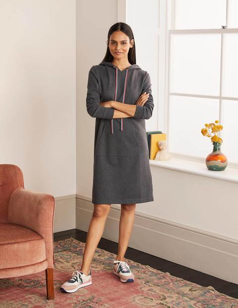 Oriel Sweatshirt Dress - Charcoal Marl