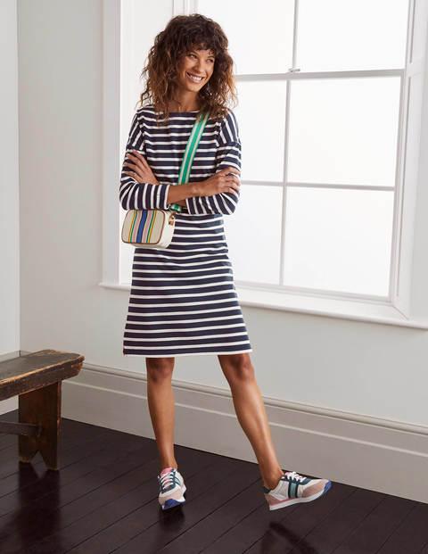 Rosie Jersey Dress - Navy/Ivory