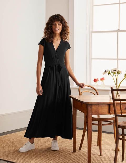 Eleanor Jersey Midi Dress - Black