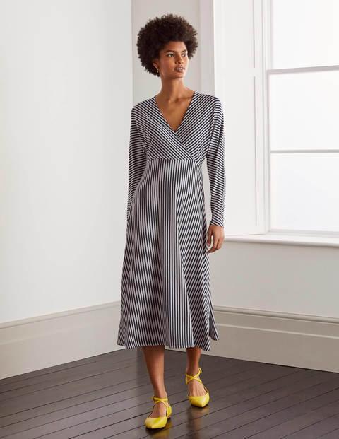 Gemma Jersey Dress - Navy/ Ivory