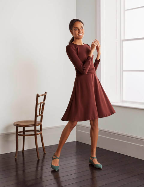 Maggie Ponte Dress - Maroon