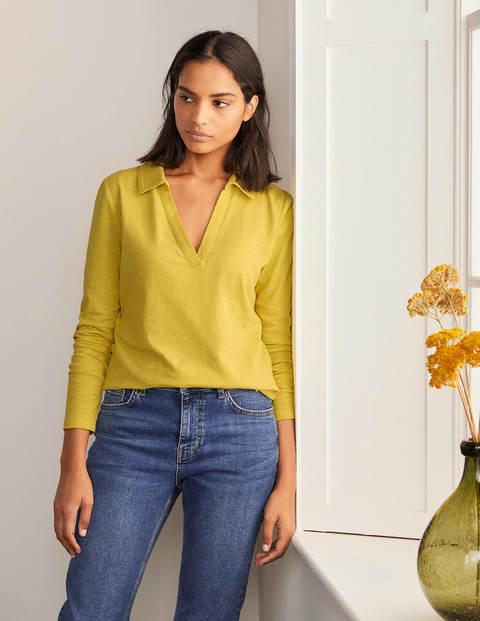 The Cotton Collar Notch Tee - Pineapple