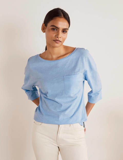 The Cotton Boxy Boatneck Tee - Ice Cube