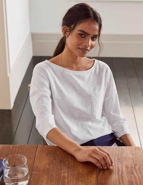 The Cotton Boxy Boatneck Tee