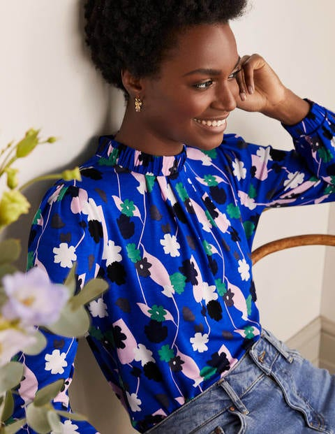 Ivy Jersey Top - Summit, Floral Press