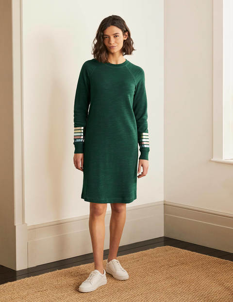 Mabel Sweatshirt Dress - Palm Leaf