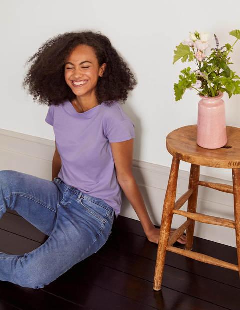 boden - Superweiches T-shirt mit U-Boot-Ausschnitt Purple Damen , Purple