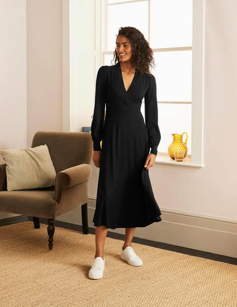 Patricia Jersey Midi Dress - Black