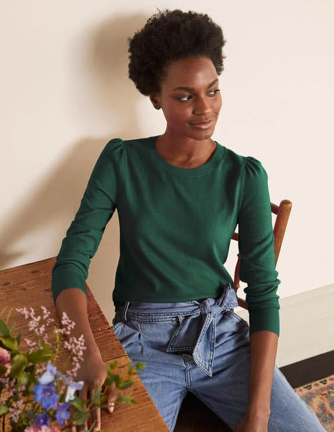 Stowe Merino Jumper - Palm Leaf
