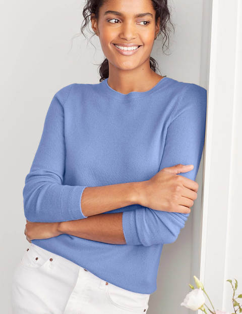 Cashmere Crew Neck Sweater - Gulf Blue