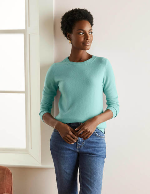Cashmere Crew Neck Jumper - Apple Mint