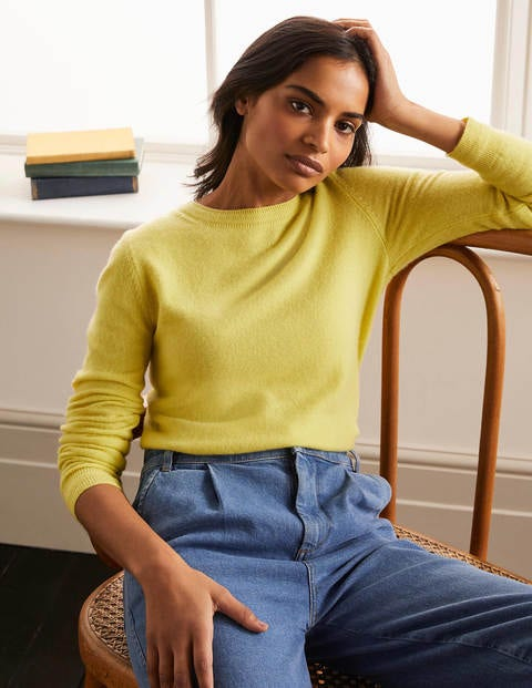 Cashmere Crew Neck Sweater - Pineapple