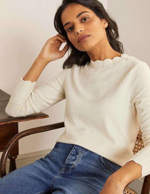Hambleden Scallop Sweater - Ivory