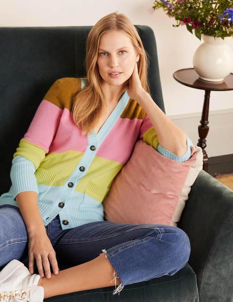 Multi Stripe Kew Cashmere Cardigan