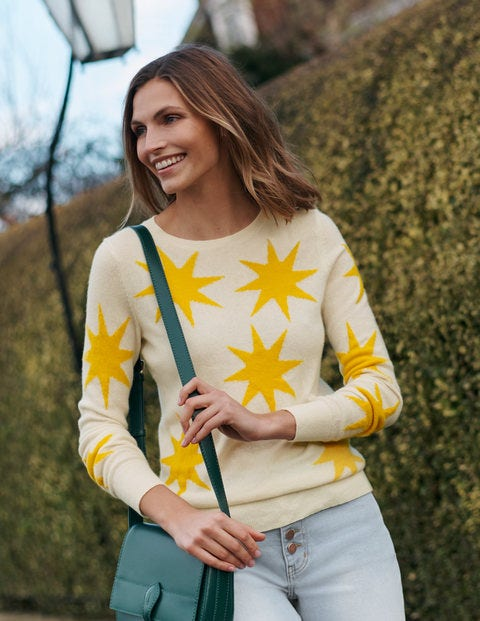 Scattered Sun Kesteven Cashmere Jumper - Ivory, Scattered Suns