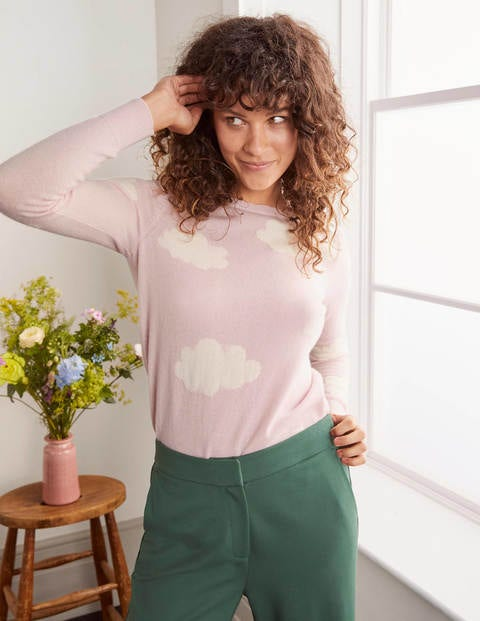Kesteven Cashmere Jumper - Milkshake, Scattered Clouds