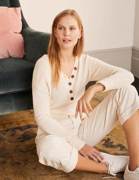 Walberswick Henley Sweater - Ivory