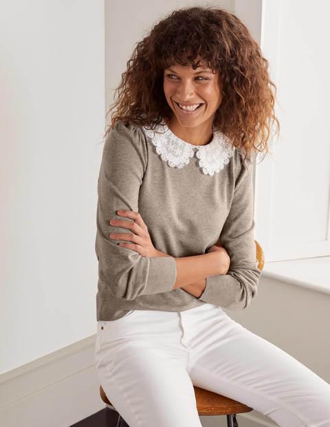 Harewood Collared Sweater - Linen Melange