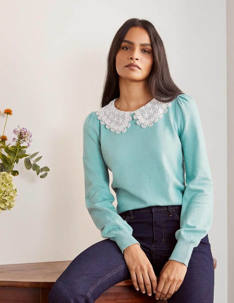 Harewood Collared Sweater - Apple Mint