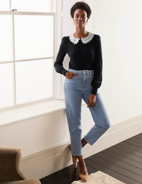 Harewood Collared Sweater - Navy