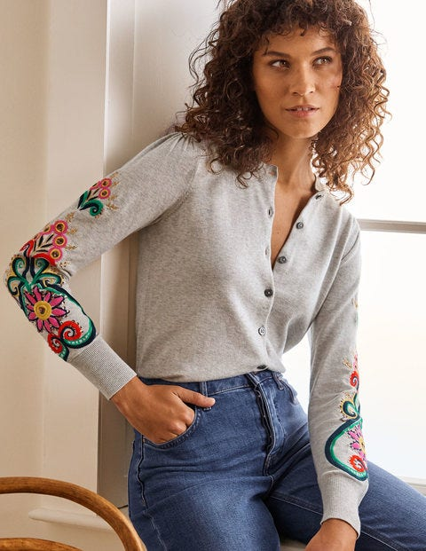 Somerset Embroidered Cardigan