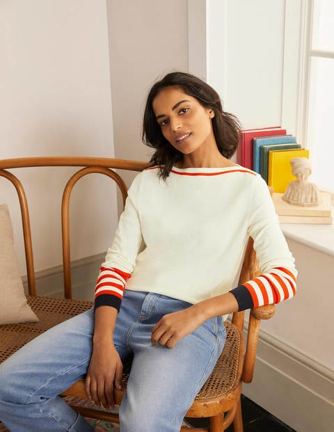 Dunmore Boat Neck Sweater - Ivory