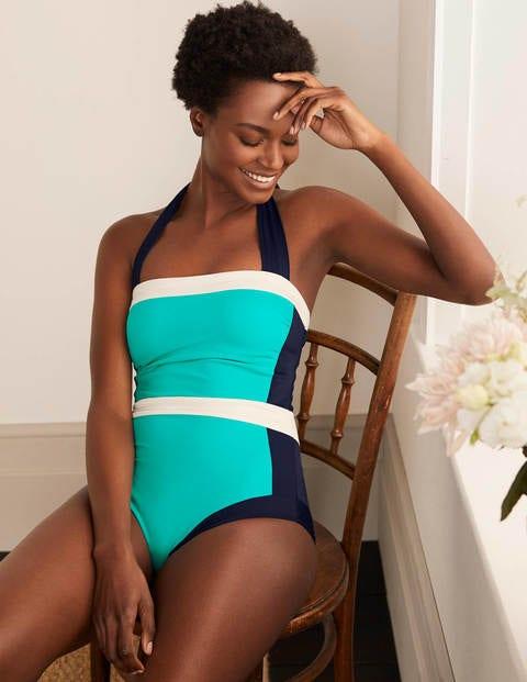 Santorini Swimsuit - Turquoise Colourblock