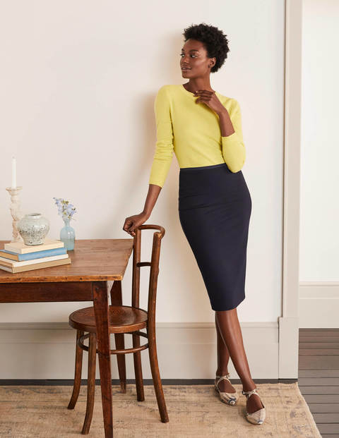 Hampshire Ponte Skirt - Navy