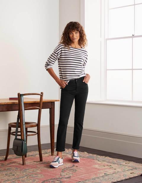 Slim Straight Jeans - Black