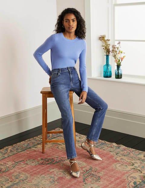 Schmale Jeans mit geradem Bein