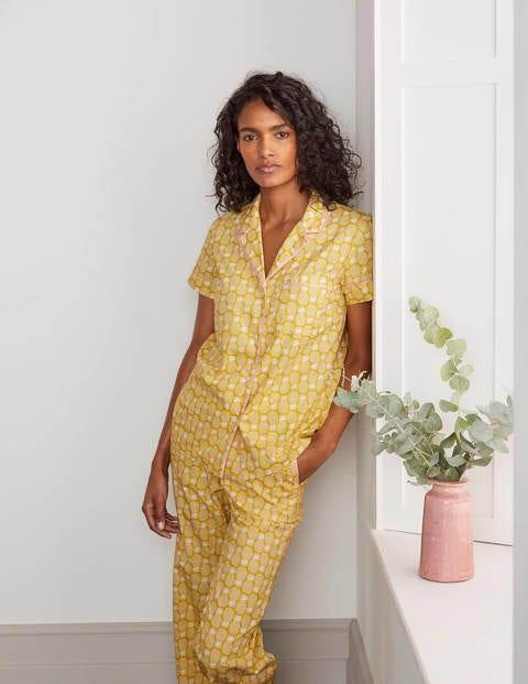Phoebe PJ Shirt - Chartreuse, Pineapple Geo