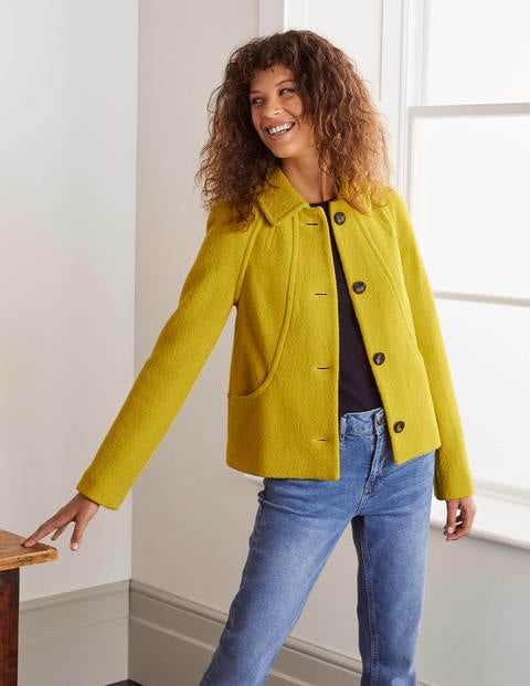 Vintage Coats & Jackets | Retro Coats and Jackets Hatfield Seam Jacket Yellow Women Boden Yellow £150.00 AT vintagedancer.com