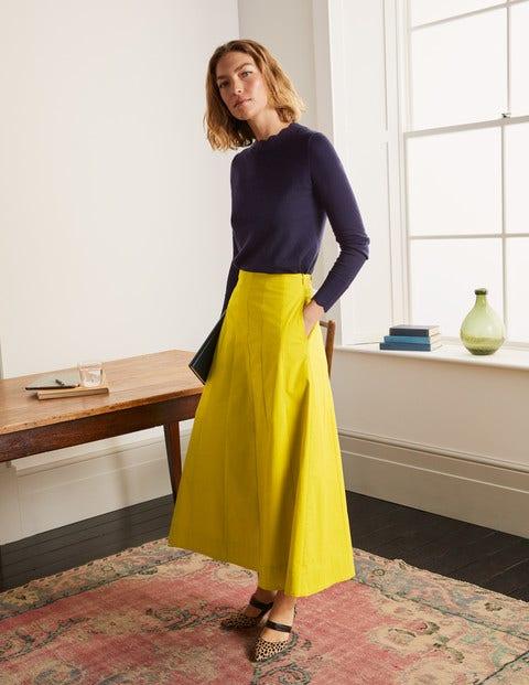 Marcia Midi Skirt - Chartreuse