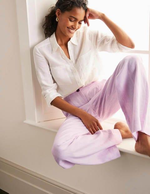 Eldon Linen Pants - Soft Peony Tonic
